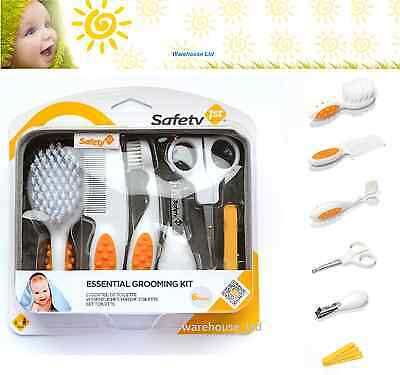 BABY GROOMING KIT Safety 1st ESSENTIAL Cleaning/Bathing/Brush/Clippers Infant BN
