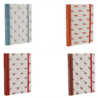 Quality Pocket Notebook – Fauna Range 4 Designs 160 Pages Ruled A6