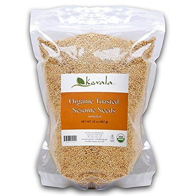 Kevala Organic Toasted Sesame Seeds 2Lbs  bag with zipper. (Gluten Free) NEW