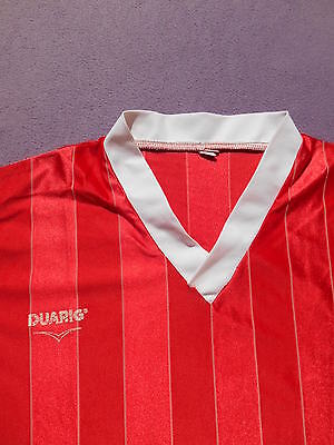 DUARIG Maillot Jersey Camiseta Maglia Vintage 80s Old School Retro Football Red