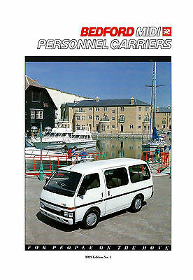 BEDFORD MIDI 1989 PERSONNEL CARRIERS BROCHURE EDITION No1 B4127 06.89 (UK)