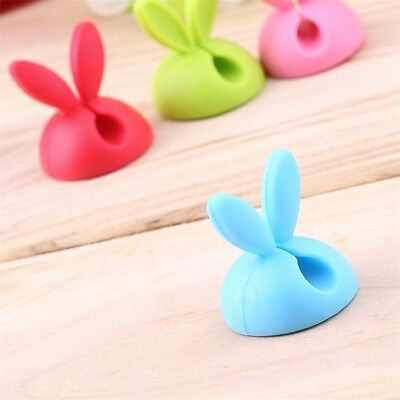 4pcs Rabbit Ear Cable Cord Wire Line Organizer Clips Fixer Fastener Holder L5