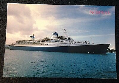 MS Norway Color Postcard - Norwegian Cruise Line