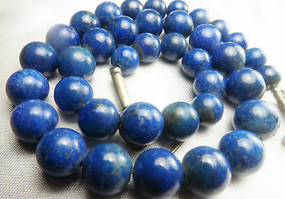 AAA 100% Natural Round Lapiz Lazuli Beads Strand Afghanistan 8-12mm LP49