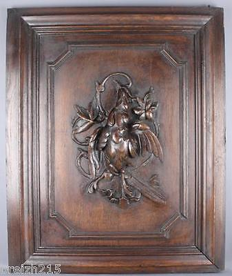 Antique French Carved Wood  Architectural Panel door
