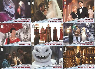 Topps 2015 Doctor Who Christmas Time Chase Card Set Of 10 Cards!