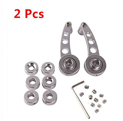 2 pcs Silver Chrome Universal  Aluminum Car  Window/Door/Winder Crank Handles