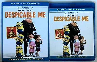 Despicable Me Blu Ray Dvd 2 Disc Set + Slipcover Sleeve Free Shipping Worldwide