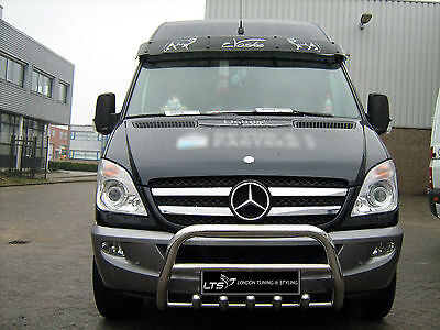 Mercedes Sprinter W906 Stainless Steel Chrome Nudge A-Bar Bull Bar 2006-2013