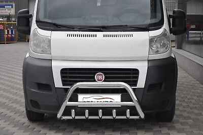 Fiat Ducato Stainless Steel Chrome Nudge A-Bar Bull Bar 2006-2013