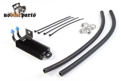 Mini Oil Cooler Black Universal for Harley and Custom bikes
