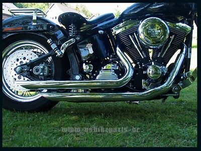 Exhaust system pipes for Harley Davidson Softail model Short Cut chrome custom