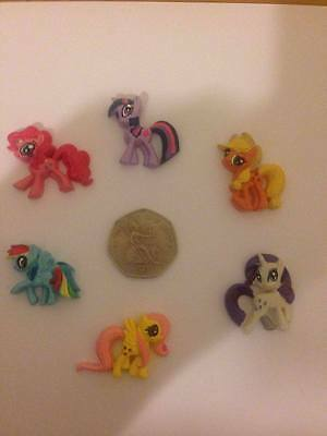 6 x My Little Pony Resin Flatback  Only £2.69