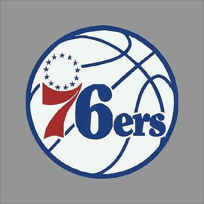 Philadelphia 76ers #4 NBA Team Logo Vinyl Decal Sticker Car Window Wall Cornhole