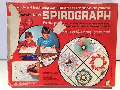 Vintage Kenner Spirograph Set no. 401 1967 Red tray w/ Box