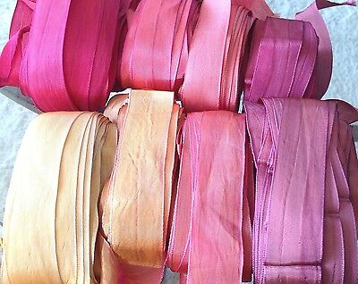 "VINTAGE RAYON -  SILK 1"" RIBBON 1920'S Made in France 1yd"