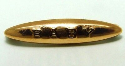 Antique Chester 9ct Rose Gold BABY Brooch Christening