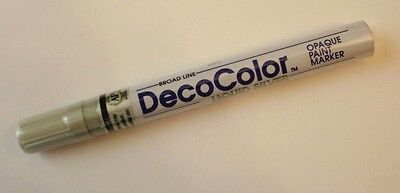 DecoColor Liquid Silver Pen Glass Marker for Stained Glass & Home Improvement