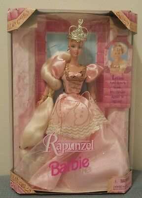 Rapunzel Barbie 1997 Barbie Doll #17646 Let Down My Hair from Crown NEW IN BOX