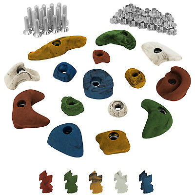 15 Children climbing holds grips stones with Screws and 30 T-Nuts inclusive