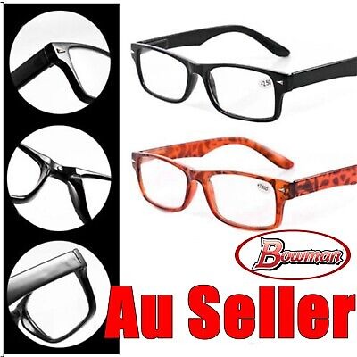Mens Ladies Wayfarer Frame Magnifying Reading Glasses Nerd Spectacle