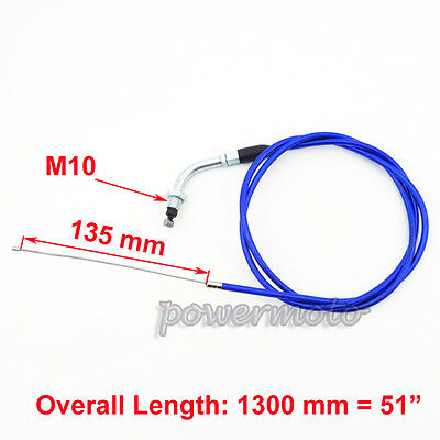 "Blue 51"" Gas Throttle Cable For 50cc 60cc 80cc Motorized Bicycle Push Motor Bike"