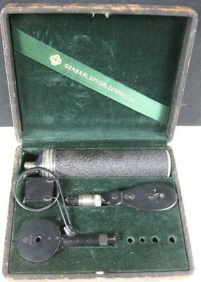 Antique 1920's General Optical Quack Battery Powered Eye Tool in Case