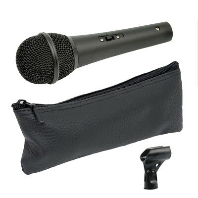Chord DM01 Live or Studio Handheld Vocal + Instrument Microphone +Mic Clip + Bag