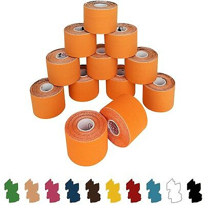 12 Rolls Kinesiology Tape 5 m x 5 cm in Different Colours bandage taping physio