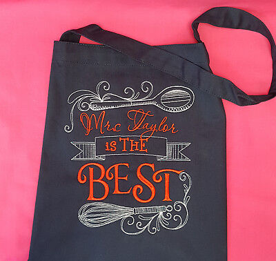 PERSONALISED Bib Apron Embroidered Present Gift You design