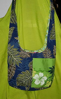 A Shoulder Tote in Tropical Prints