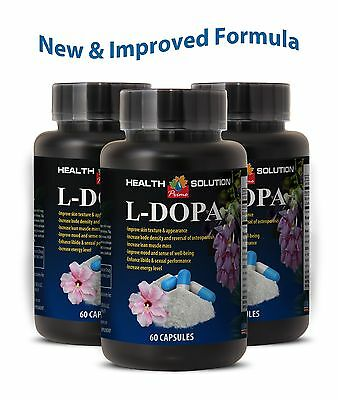 Raw Dopamine - L-Dopa 350mg - Weight Loss - Sexual Boost - 3 Bot 180 Ct