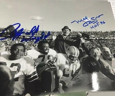 MEL RENFRO Rayfield Wright AUTOGRAPHED 8 X 10 PHOTO DALLAS COWBOYS Gameday Holo