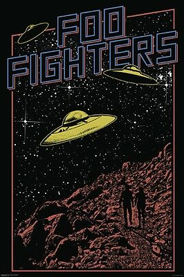Foo Fighters UFO Music Poster Print Space Ship Dave Grohl New 24x36 B11