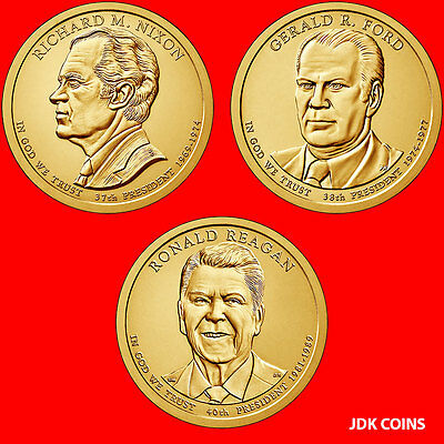 (6 Coins) 2016 P&d Set Nixon Ford Reagan Presidential Dollars Uncirculated