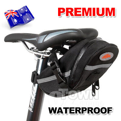 Waterproof Cycling Bike Outdoor Bicycle Saddle Bag Back Seat Pouch Black