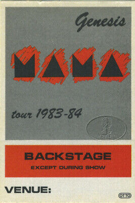GENESIS 1983-84 Mama Backstage Pass Phil Collins