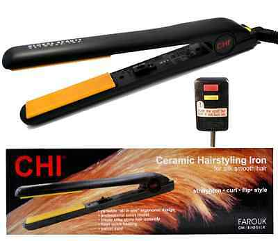 """CHI 1"""" Original Ceramic Flat Iron With GFI - No Import Charges - Free Shipping!"""
