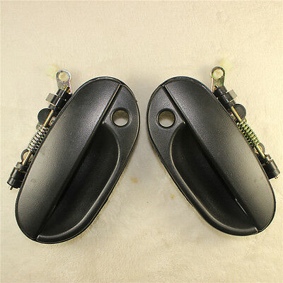 2PCS NEW OUTSIDE DOOR HANDLE FRONT LEFT RIGHT For HYUNDAI Accent 1995-99
