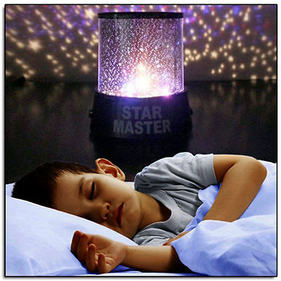 Kids Star Master Night Light Sky Led Projector Mood Lamp Bed Leds Bedroom  Ha