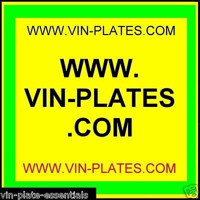 Vin-Plates.com + Chassis-Plates.co.uk + Trailer-Spare-Parts.co.uk+Land Rover Url