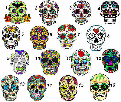 "MEXICAN SUGAR SKULL wall stickers (choice of 16 images in 2 sizes) ""DISCOUNTS """