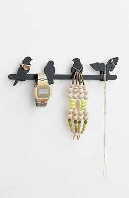Kikkerland Wall Mounted Bird Jewellery Stand Jewellery Holder Display NEW BOXED