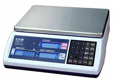 15 LB x 0.0005 LB Cas EC Series Retail Counting Scale W RS232-C Interface NEW