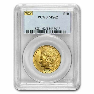 $10 Indian Gold Eagle Coin - Random Year - MS-62 PCGS - SKU #12918