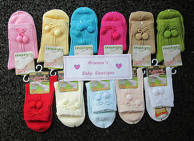 Boy /girls Spanish Ysabel Mora perlerine pom pom ankle socks 0-3 month - 5 years