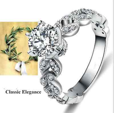 925 Sterling Silver Rings Jewellery Luxury Wedding Engagement Bridal -  Size 9