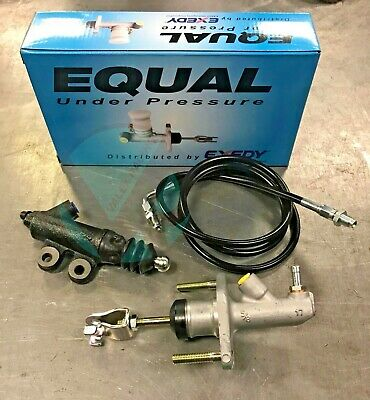 Exedy Master & Slave Cylinder & Stainless Clutch Line Kit 1996-2000 Honda Civic