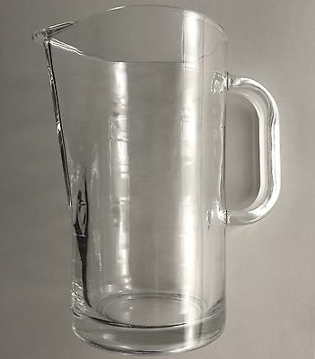 IKEA Pitcher 10288 DISCONTINUED, Ribbed Clear Glass, Made in Italy, Hard to find