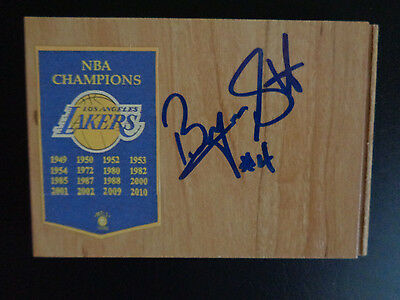 BYRON SCOTT Signed LOS ANGELES LAKERS Basketball SHOWTIME Floor Tile FREE SHIP